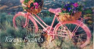 pink bike tanya travels